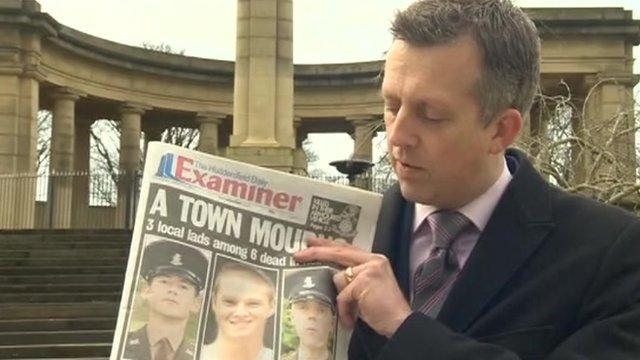 Nick Ravenscroft with newspaper