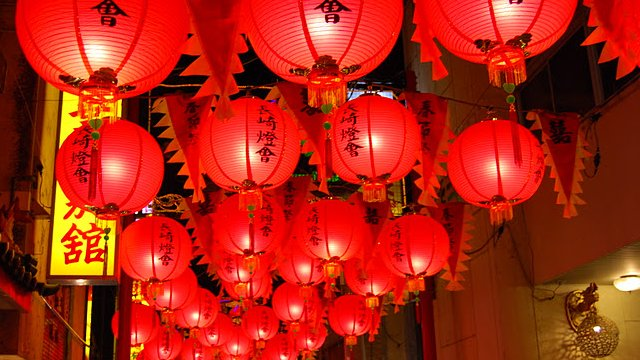 Chinese lanterns in Nagasaki