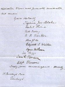 Suffragette's letter