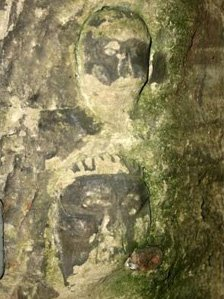 Carving in Guy's Cliffe cave