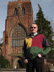 Reverend Paul Firmin outside Shrewsbury Abbey