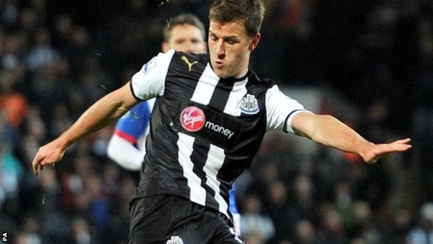 Newcastle United&#039;s Ryan Taylor 