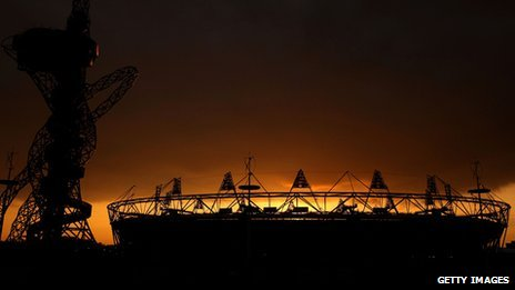 The Olympic Stadium on 6 March 2012