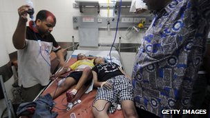 Children in hospital in Mumbai