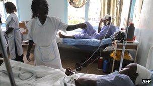Nurses at Karatina's hospital