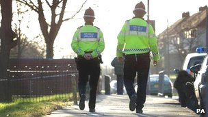 South Wales Police officers on beat