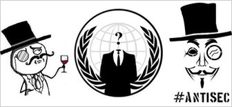 Lulzsec, Anonymous and Antisec symbols