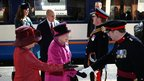 The Queen arrives at Leicester station