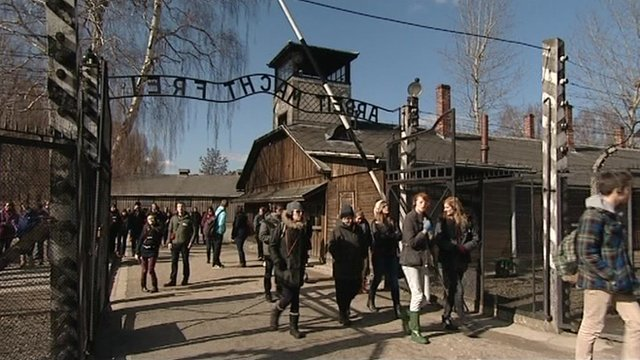 The pupils at Auschwitz