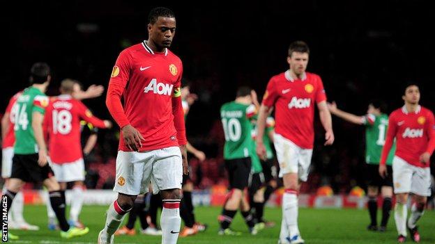 Patrice Evra trudges off