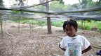 Girl from the Boucan Guillaume nursery network