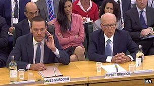 James Murdoch and Rupert Murdoch