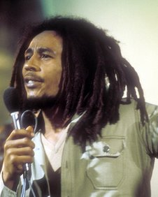 Bob Marley performing in the 1970s