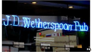 JD Wetherspoon has more than 800 pubs across the UK