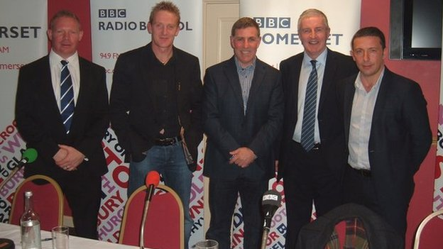 Liam Middleton, Steve Kirby, Mark McGhee, Geoff Twentyman and Derek McInnes
