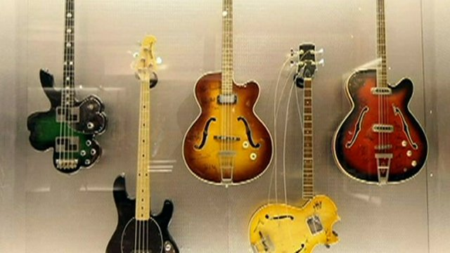 Display of Fender guitars