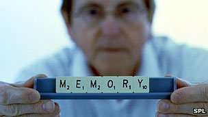Memory in Scrabble letters