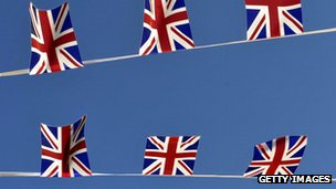 Flag bunting. Andy Buchanan/AFP/Getty Images