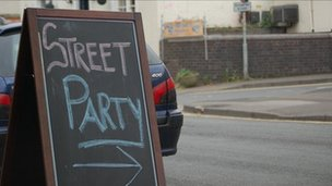Street party sign