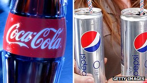 Coca-Cola and Pepsi - file photo