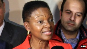 Valerie Amos in Damascus, 8 March
