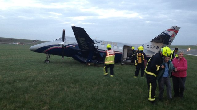 Isle of Man plane crash-landed at Ronaldsway airport