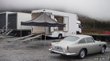 Skyfall film set. Pic: SAIS Glencoe