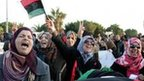 Protesters in favour of a united Libya wave the national flag [March 5 2012]