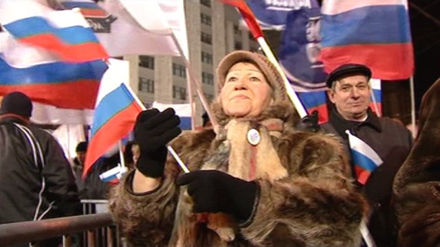 Putin's victory celebrated in Moscow