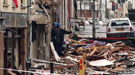 Omagh bomb scene