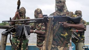 Mend militants photographed in 2008