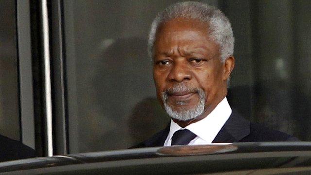 Kofi Annan in Damascus in Syria