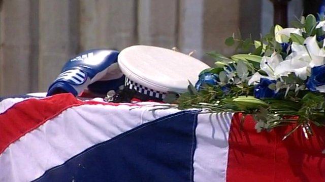 PC David Rathband's coffin