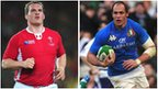 Wales captain Gethin Jenkins and Italy counterpart Sergio Parisse