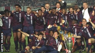 Ajax savour their European Cup win in 1995
