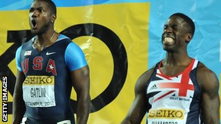 Jsutn Gatlin and Dwain Chambers
