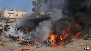 Israeli air strike on Rafah, Gaza. 10 March