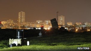 Iron Dome missile launcher near the southern city of Ashdod