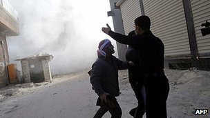 Clashes in Idlib, northern Syria. 10 March 2012