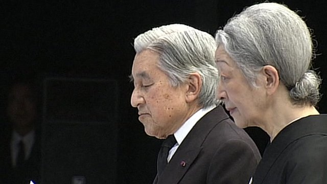 Japan's Emperor Akihito and Empress Michiko