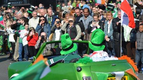 St Patrick's Parade in Birmingham