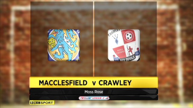 Macclesfield 2-2 Crawley