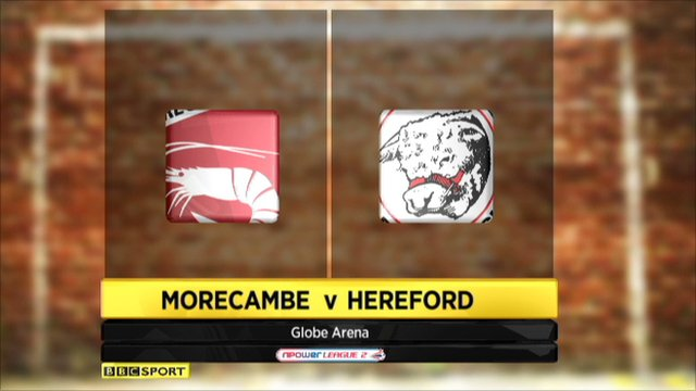 Morecambe 0-1 Hereford