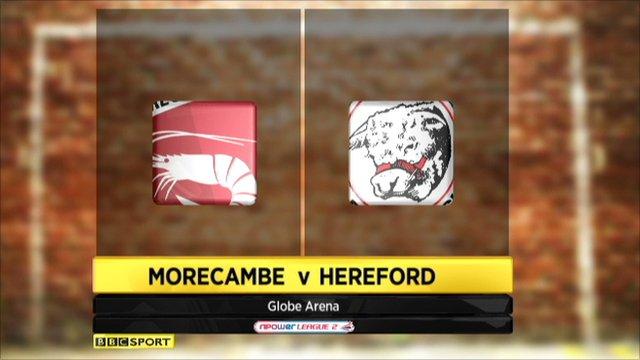 Morecambe 0-1 Hereford