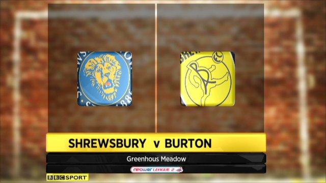 Shrewsbury 1-0 Burton Albion