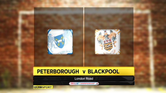 Peterborough 3-1 Blackpool