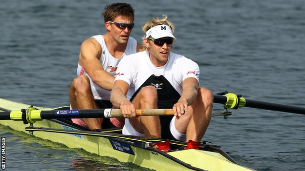 Andy Triggs Hodge (left) and Pete Reed at Eton Dorney