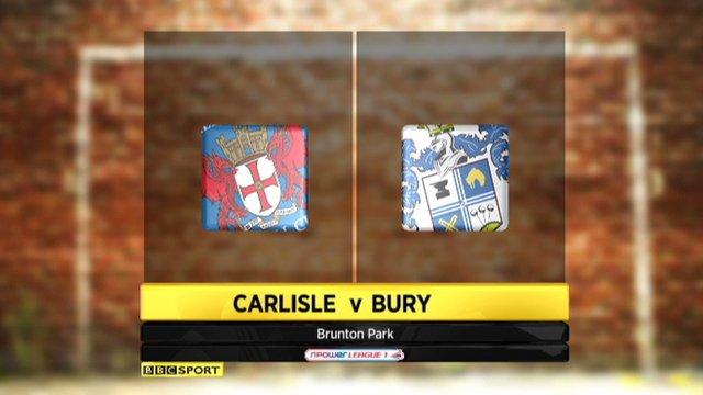 Carlisle 4-1 Bury