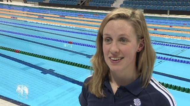 Olympic swimmer Hannah Miley