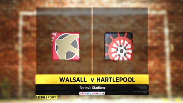 Walsall 0-0 Hartlepool